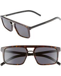732c6f45c478e Dior - Homme Black Tie 54mm Sunglasses - Dark Havana - Lyst