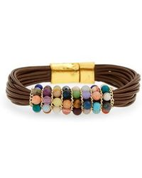 Nakamol - Stone & Leather Bracelet - Lyst
