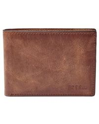 Fossil - 'derrick' Leather Front Pocket Bifold Wallet - Lyst