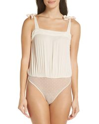 Urban Outfitters - Free People Intimately Fp Ties Over Guys Bodysuit - Lyst