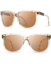 Shwood - 'mckenzie' 57mm Polarized Sunglasses - Blossom/ Ebony/ Brown - Lyst