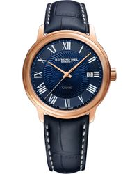 Raymond Weil - Maestro Automatic Leather Strap Watch - Lyst