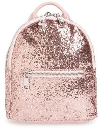 mali + lili - Mali + Lili Glitter Vegan Leather Backpack - Lyst