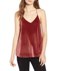 BISHOP AND YOUNG - Bishop + Young Metallic Velvet Camisole - Lyst