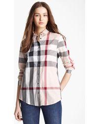 f2e5a5184db2 Burberry Brit - Check Woven Shirt - Lyst