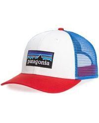 2ddf3bad300 Lyst - Patagonia P-6 Logo Trucker Hat in Green for Men