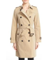 Burberry - 'kensington' Long Trench Coat - Lyst
