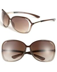 Tom Ford - 'raquel' 63mm Oversized Open Side Sunglasses - - Lyst