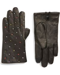 Echo - Rani Crystal Embellished Leather Touchscreen Gloves - Lyst