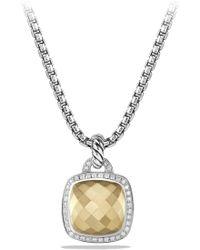 David Yurman - 'albion' Pendant With 18k Gold Dome And Diamonds - Lyst
