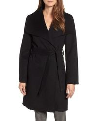 Tahari - Ellie Double Face Wool Blend Wrap Coat - Lyst