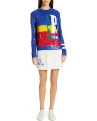 Polo Ralph Lauren - Colorblock Sequin Minidress - Lyst
