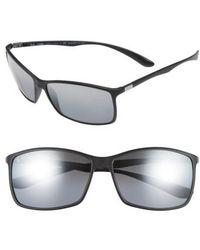 7af4d9d685 Lyst - Ray-Ban Tech 62mm Polarized Wayfarer Sunglasses - Shiny ...