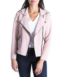 Kut From The Kloth - Haddie Faux Suede Moto Jacket - Lyst