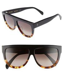Céline - Special Fit 60mm Flat Top Sunglasses - Lyst