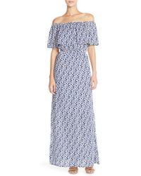 Fraiche By J - Tie Dye Off Shoulder Maxi Dress - Lyst