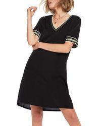 Scotch & Soda - Stripe Trim T-shirt Dress - Lyst
