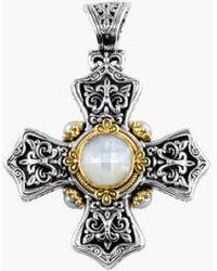 Konstantino - 'selene' Maltese Cross Pendant - Lyst