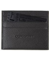 Longchamp - 'le Foulonne' Pebbled Leather Card Holder - Lyst