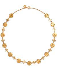 Tory Burch - Logo Charm Necklace - Lyst