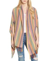 Madewell - Rainbow Stripe Silk & Cotton Cape Scarf - Lyst