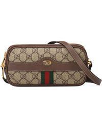c1c5dfb89053 Gucci - Mini Ophidia Gg Supreme Canvas Crossbody Bag - - Lyst