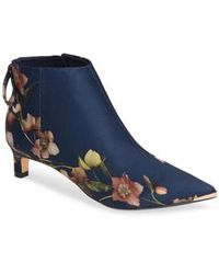 Ted Baker - Printed Kitten Heel Ankle Boots - Lyst