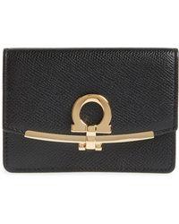 Ferragamo - Icona Leather Card Case - - Lyst