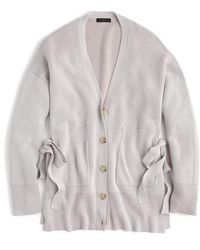 J.Crew | J.crew Slouchy Cardigan With Side Ties | Lyst