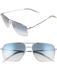 7d08b6c4c81 Oliver Peoples - Clifton 58mm Aviator Sunglasses - Lyst