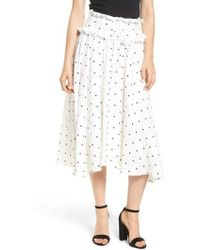 Lost Ink - Lace-up A-line Skirt - Lyst