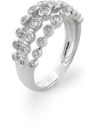 Bony Levy - Amara Three-row Bezel Diamond Ring (nordstrom Exclusive) - Lyst