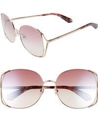 0a66b0b634 Lyst - Kate Spade Darrys Oversizesquare Sunglasses in Brown