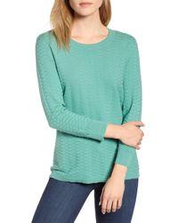 Vince Camuto - Rhombus Stitch Sweater - Lyst
