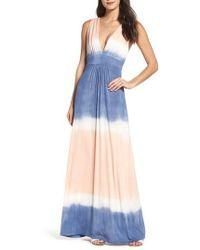 Fraiche By J - Tie Dye Sleeveless Maxi Dress - Lyst
