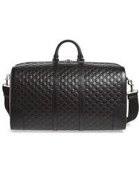 Gucci - Signature Strap Leather Duffel - - Lyst