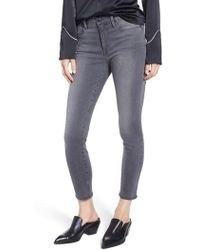 FRAME - Le High Ankle Skinny Jeans - Lyst