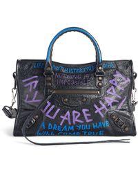 Balenciaga - Small Classic City Graffiti Leather Tote - - Lyst