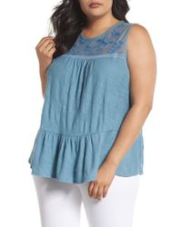 Lucky Brand - Lucky Tiered Jacquard Tank - Lyst