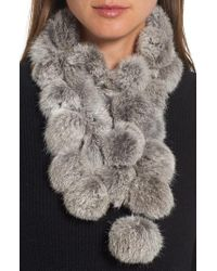 Love Token - Genuine Rabbit Fur Scarf - Lyst