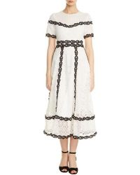 Maje - Rowan Bicolore Lace Dress - Lyst
