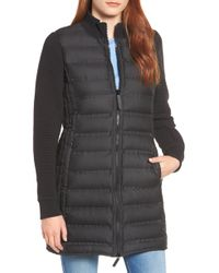 Marc New York - Puffer Coat With Puff Knit Sleeves - Lyst
