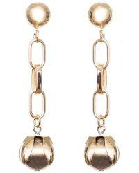 SHOSHANNA LEE - Orb Drop Chain Earrings - Lyst