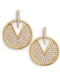 Vince Camuto - Crystal Pave Disc Earrings - Lyst