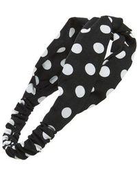 Cara - Polka Dot Twist Head Wrap - Lyst