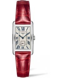 Longines - Dolcevita Leather Strap Watch - Lyst