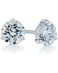 Kwiat - 0.75ct Tw Diamond & Platinum Stud Earrings - Lyst