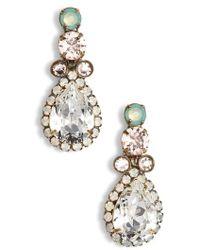Sorrelli - Brugmansia Crystal Drop Earrings - Lyst