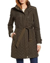 Cole Haan - Belted Quilted Coat - Lyst