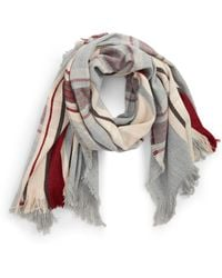 BP. - Center Stripe Plaid Scarf - Lyst